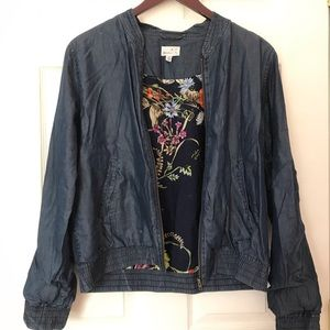 Sady & Lu bomber with floral print inside